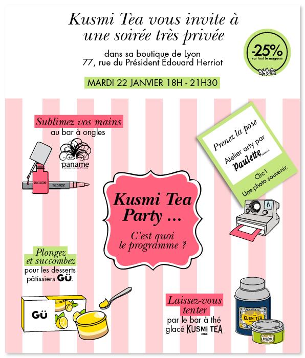 Kusmi Tea Party Lyon Jacobins