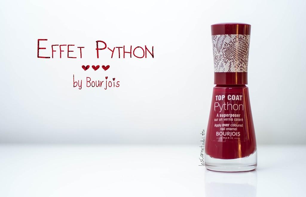 J'ai testé…. le top coat Python Bourjeois