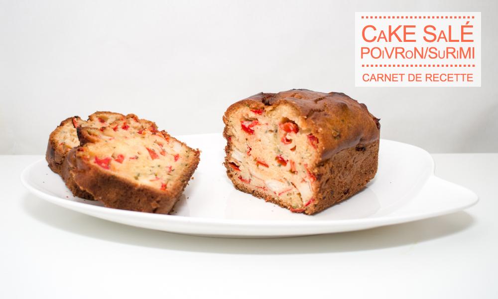 It's so Fresh #1 : Cake salé poivron rouge et surimi