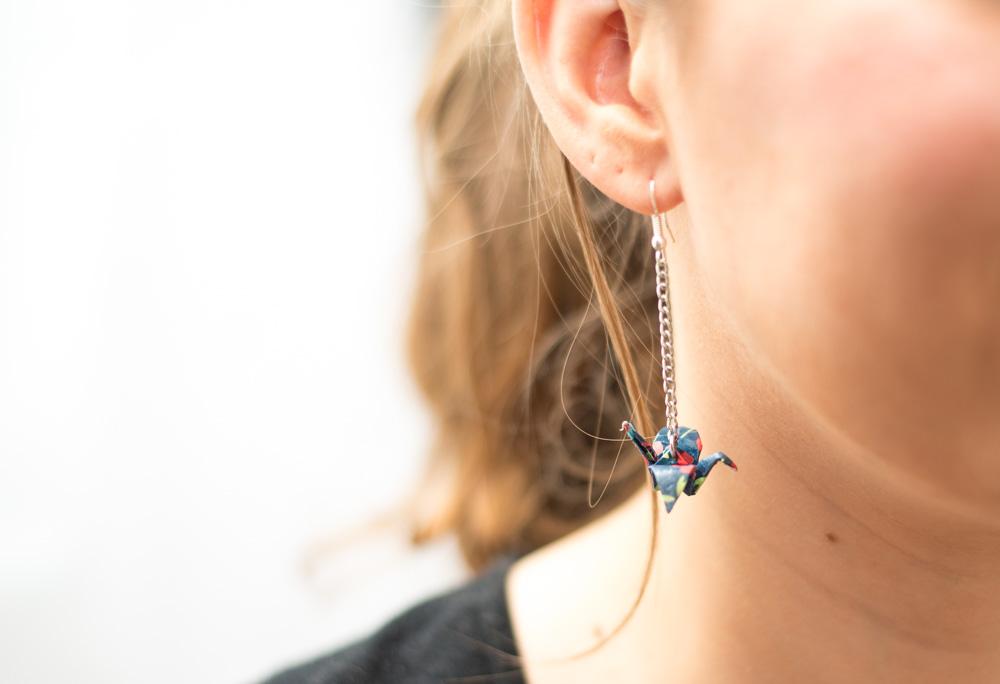 DIY de l'été #3 : Les boucles d'oreilles origami