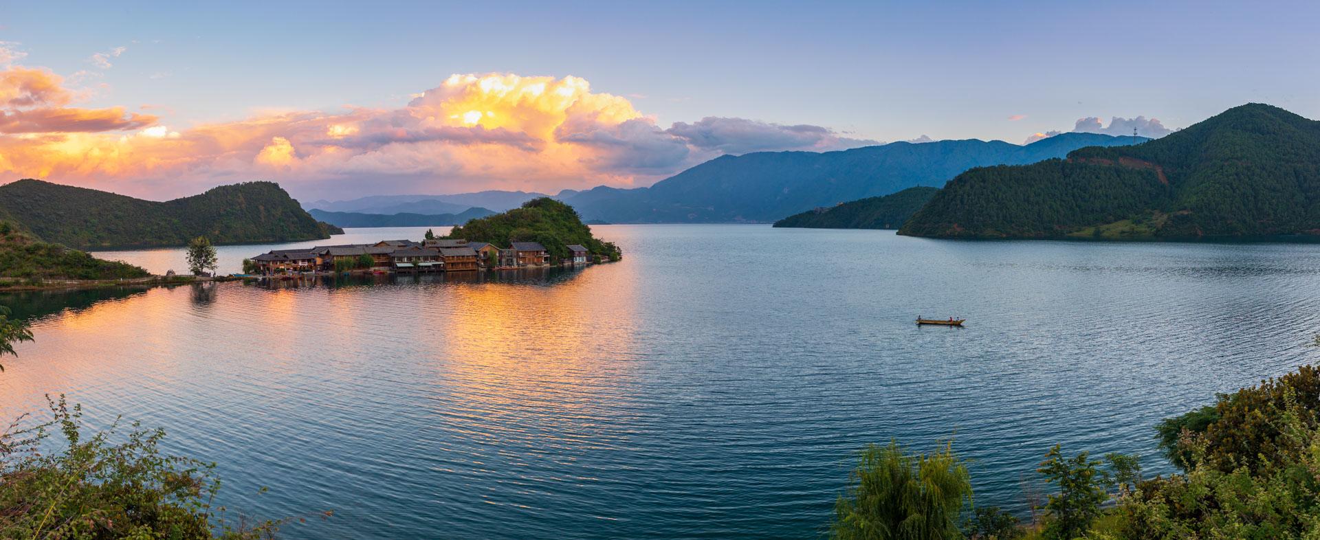 sunset lugu lake