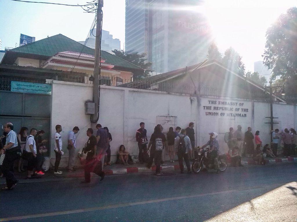 ambassade birmane thaïlande