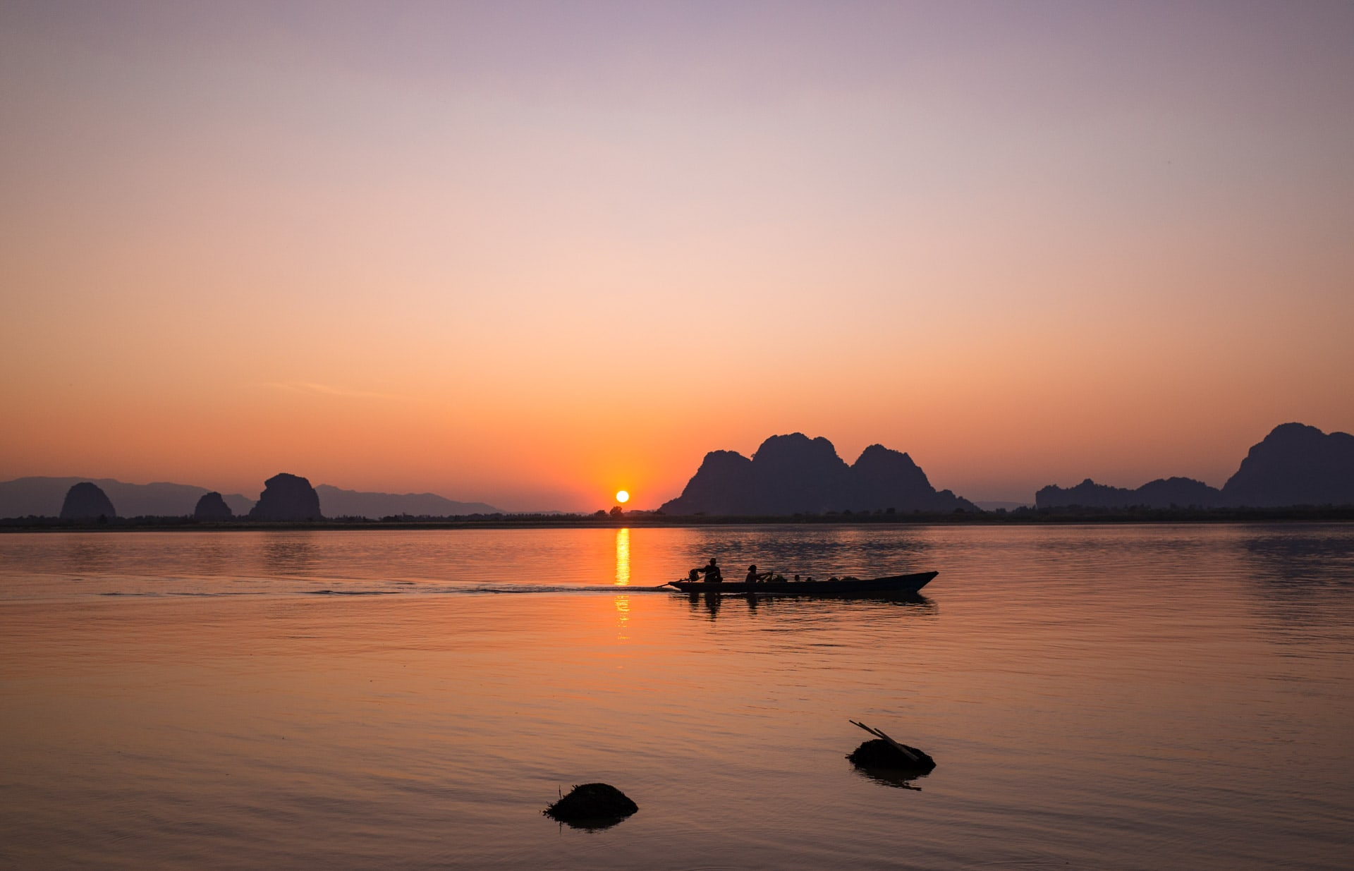 sunset Hpa-an Birmanie