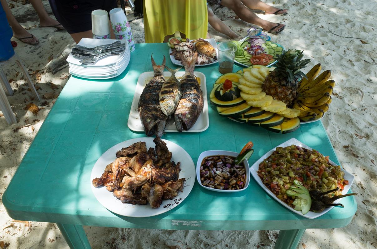 notre repas El Nido