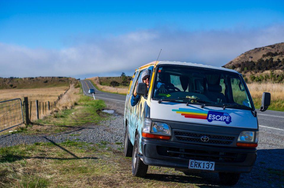 Notre arrivée à Christchurch – Location du van en NZ