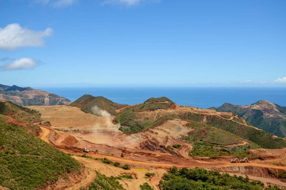 Nouvelle-Calédonie : Visite de la mine SLN à Thio